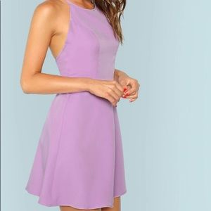 Lavender dress with open back